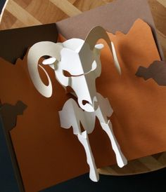 Kirigami Ram (Aries) Pop-up Card, Make Yourself