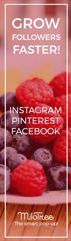 FOR BLOGGERS: Grow your Instagram, Pinterest, and/or Facebook following using the free MiloTree smart pop-up. Learn more at MiloTree.com.