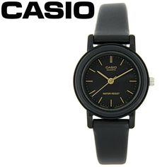 Casio Black and Gold Classic Round Analogue Ladies Watch