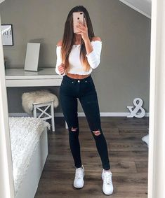 cute outfits for school . cute outfits with leggings . cute outfits for women . cute outfits for school for highschool . cute outfits for winter . cute outfits for spring Cute Comfy Outfits, Cute Outfits For School, Stylish Outfits, Cute Casual Outfits For Teens, White Girl Outfits, Autumn Outfits For Teen Girls, White Vans Outfit, Cute Outfits With Jeans, Dressy Outfits