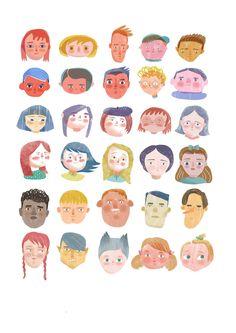 Sandra Rilova Book Design Graphique, Illustration Design Graphique, People Illustration, Portrait Illustration, Children's Book Illustration, Character Illustration, Art Illustrations, Character Art, Character Design