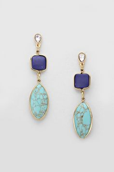Aggie Earrings in Turquoise on Emma Stine Limited