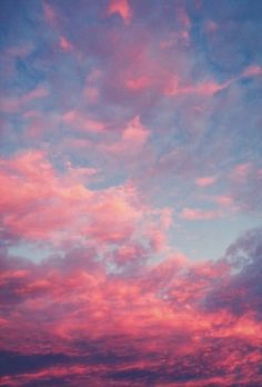 Pink clouds for my Alex.  I can see her looking down on them and smiling.
