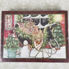 Santa's Sleigh by Susan Winget Winter Christmas Jigsaw Puzzle 1000-Piece LANG #Lang