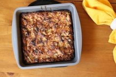 Potato kugel with sauteed shallots