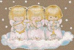 Anjos muito Cutes   Imagens para Decoupage