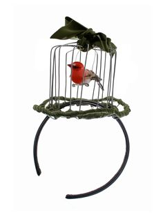LIBERTARIAN Birdcage Headpiece - wonder if I could make something like this....