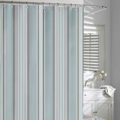 Kassatex Capri Stripe Fabric Shower Curtain