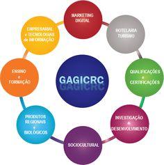 A atividade do GAGICRC organiza-se em torno da gestão de informação e conhecimento em redes colaborativas de organizações, investigação, consultadoria, ensino, formação profissional, certificação e qualificação de capital humano, ação social, tecnologias, saúde, cultura, organização, gestão, empreendedorismo, negócios, e outras no quadro de novos projetos.