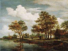 Meindert Hobbema - Rivierlandschap (1658)