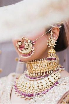 Perfect finishing to a bridal look is given by stunning nose rings! Book the best makeup artist now with BookEventZ to get the perfect bridal look on THE DAY! Indian Bridal Fashion, Indian Wedding Jewelry, Indian Jewelry, Bridal Jewelry, Bridal Nose Ring, Nath Bridal, Nath Nose Ring, Bridal Photoshoot, Bridal Poses