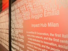 Each meeting room in the Stockholm office is named after another Impact Hub around the world. This one is called Milan which is a certified B Corporation and the first Impact Hub to be established in Italy.  www.impacthub.se