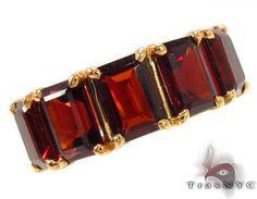 Garnet Emerald Cut Ring 28799 by Traxnyc on Etsy