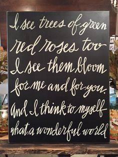 What a wonderful world... Wood sign from Primitives by Kathy!