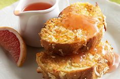 Tropical Baked French Toast with Ruby Red Grapefruit SyrupTry this tasty recipe from Ocean Spray.