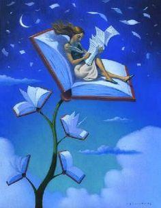 i love books I Love Books, Books To Read, My Books, Illustrations, Illustration Art, Pintura Graffiti, Reading Art, Girl Reading, World Of Books
