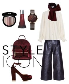 """""""New Day : Thursday 💫"""" by lenatsesmeli on Polyvore featuring Yves Saint Laurent, Closed, Gianvito Rossi, Lacoste, Edward Bess and HUGO"""