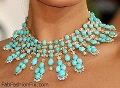 Van Cleef & Arpels Turquoise & Diamond necklace worn by Eva Mendes. Description from pinterest.com. I searched for this on bing.com/images