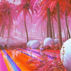 Aesthetic Rooms, Pink Aesthetic, Vaporwave Fashion, Vaporwave Clothing, Vapor Art, Neon Led, Tout Rose, Vaporwave Art, Retro Interior Design