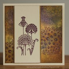 Stunning use of the Fantastic Florals and Texture Fragments stamps from Corine, Chocolate Baroque stamps