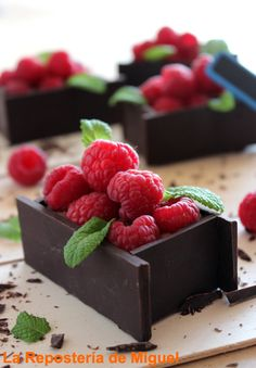 Chocolate Fruit Box Recipe - Fill these delicious chocolate containers with berries or candies.