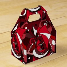 Awesome Red Dragon Art Abstract Gift Box #dragons #gift #box #favors And www.zazzle.com/inspirationrocks* #red