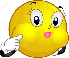 Illustration Of A Smiley Making A Blowfish Face Stock Photo ...