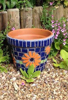 Mosaic Pots, Planter Pots, Create, Mosaics, Fun, How To Make, Mosaic, Hilarious