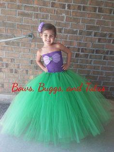 Vestido tutú de Ariel de poco vestido de por BowsBuggsandTutus