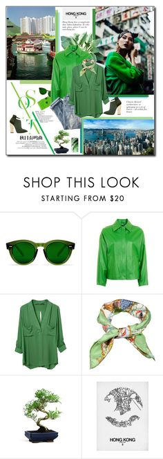 """""""Green day in Hong Kong"""" by beograd-love ❤ liked on Polyvore featuring Poketo, J.Crew, Gucci and Casetify"""