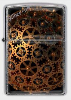 Orig. Zippo Benzinfeuerzeug Sturmfeuerzeug Steampunk versch. Motive 3D Druck…