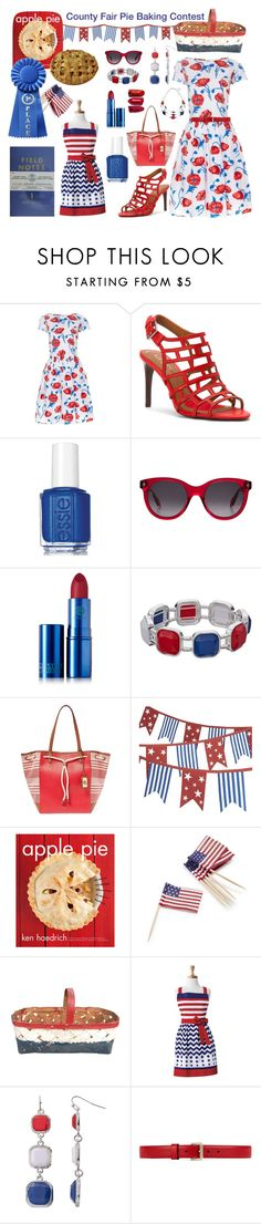 """She Done Made Her Momma Proud At The County Fair. First Place : Apple Pie"" by tjclay3 ❤ liked on Polyvore featuring Oscar de la Renta, Lauren Ralph Lauren, Essie, Alexander McQueen, Lipstick Queen, Crate and Barrel, Dot & Bo, Sur La Table, Gucci and countyfair"