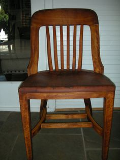 Antique 1930s B.L. Marble Chair Company Office Side Chair. $169.00, via Etsy.