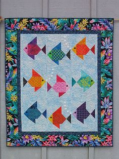 Swimmies! Fish Quilt by Lisa Boyer