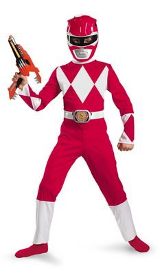 Red Power Ranger Costume for my host brother!