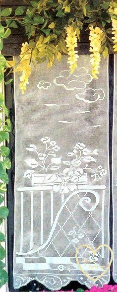 PDF Crochet pattern curtains-tend  Crochet tend Home decor
