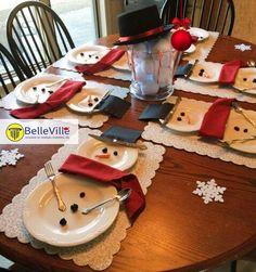 ⛄ Que tal essa inspiração de mesas de Natal para o dia da consoada lá em casa?  | www.belleville.pt |  #natal #mesadejantar #consoada #decoração #bonecosdeneve #natal2017 #inspiração #criatividade #familiareunida #amor #paz #criarsorrisos #imoveis #imobiliária #realestate