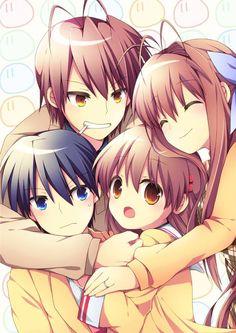 Akio, Sanae, Tomoya, and Nagisa! c:
