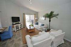 Beachy family room in a 4 bedroom vacation home in Orlando. This website has the best vacation homes in Orlando (and great prices)!