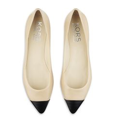 A chic choice for day, these nude leather flats from Kors Michael Kors feature a black pointed toe. US sizing Presented in a Kors Michael Kors box. Fashion Catwalk, Fashion Shoes, Fashion Accessories, Fashion Outfits, Crazy Shoes, Me Too Shoes, How To Have Style, Michael Kors Flats, Leather Flats