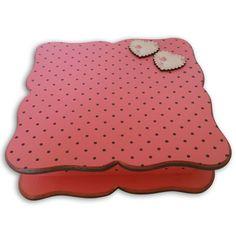 Caixa de Bijouteria Rosa Poá Marrom
