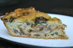 Bacon Quiche with Paleo Almond Flour Crust. Made this for breakfast, and it was great! I added shredded zucchini.