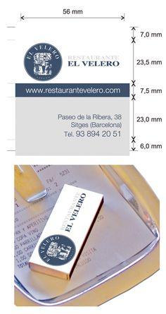 """Propuesta cajas de cerillas modelo """"Hotel"""" para el restaurante El Velero en Sitges. Sitges, Money Clip, Model, Match Boxes, Sailing Ships, Proposals, Restaurants, Money Clips"""