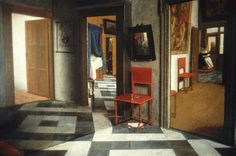 A Peepshow with Views of the Interior of a Dutch House, c1655-1660, Samuel van Hoogstraten.
