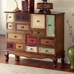 Fun cabinet.  FREE SHIPPING! Shop Wayfair for Hokku Designs Dionysia Accent Chest - Great Deals on all Furniture products with the best selection to choose from!