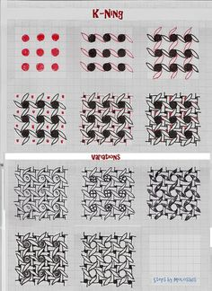 K-Ning: tangle pattern by molossus, who says Life Imitates Doodles, via Flickr