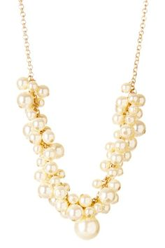Wear this anytime only $19.00  50% off MSRP Today Only!  Pearl Grape Cluster Necklace by Day to Night: Jewelry Event on @HauteLook
