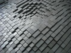 """190,560 staples used to create a """"ripple-in-liquid"""" piece of art. See more at www.robobriendesign.com"""