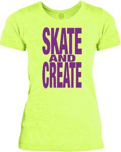 Big Texas Skate and Create (Purple) Womens Fine Jersey T-Shirt
