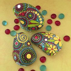 Painted Rocks Hand Painted Stone Art Rock Art by etherealandearth